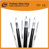 75 Ohm RG6 Coaxial Cable for CCTV Camera Cable with Cu/CCS
