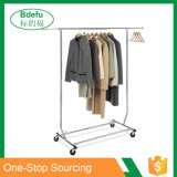 Heavy Duty Single Rail Collapsible Commercial Grade Rolling Clothing Display Rack Salesman Rack