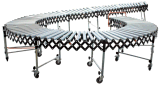 Extendable Flexible Steel Roller Conveyor Used to Transfer Pallet
