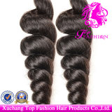 6A Grade Loose Wave Weft 100% Brazilian Full Cuticle Virgin Remy Human Hair