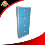 Colored Modern 4 Door Layer Shoes Cabinet