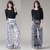 Women's Mandala Print Wide Legged Palazzo Pants Trousers