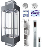 Machine Roomless Observation Elevator with Good Quality Glass Cabin
