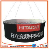 Trade Show Ceiling Hanging Banner Tension Fabric Circular Ceiling Displays