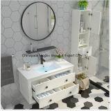 Modern Minimalist Paint-Free Solid Wood Bathroom Cabinet with Mirror