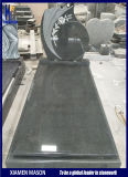 Popular Granite Headstones with 3D Roses Engraved Monument