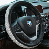 White 37cm-38cm Car-Styling Sport Auto Steering Wheel Covers Anti-Slip