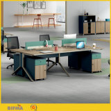 Wooden Call Center Desk Aluminum Partition Office Cubicle Workstation
