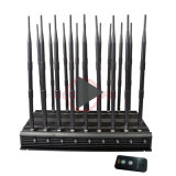 60 M Jamming Range Mobile Phone Signal Blocker 18 Antennas WiFi 4G Lte Wimax WiFi 2.4G 5.2g 5.8g Cell Phone Scrambler