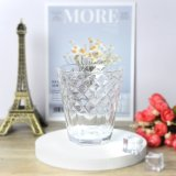 Raindrops Design Patterned Decoration Glass Tumbler Cup Glassware