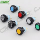19mm Spdt 1no1nc Plastic Push Button Switch with Indicator Light