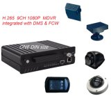 HD 1080P 8CH One DIN H. 265 Mobile DVR 4G Adas