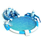 Used Commercial Amusement Park Inflatable Swimming Pool with Water Slide for Sale