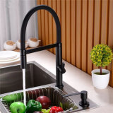 Wholesale Luxury Black Plated Brass Hot and Cold Pull out Kitchen Faucet Supplier in China