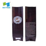 Cheap Recyclable Grade Safety Flat Bottom Aluminum Foil Coffee Packaging Bag with Valve