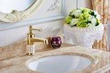 Flg High Platform Heightening Bathroom Basin Brass Gold Painting Tap/Faucet