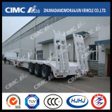 3alxe Lowbed Semi Trailer with Pillar and Ramp