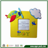 Promotional Square Yellow Cartoon Wooden Photo Frame