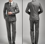 Spring/Autumn Double-Breasted Peak Lapel Classic Men′s Fashion Business Suits