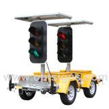 Solar LED Warning Lights Stop Go Road Traffic Light Signs