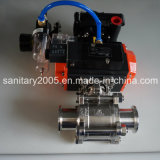 Ball Valve with Pneumatic Actuator with Limited Switch Box
