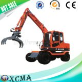 Hydraulic Mini Wheel Excavator for Sale with Good Quality