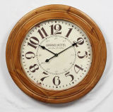 Round High Quality Antique Wooden Wall Clock