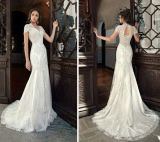 Mermaid Lace Wedding Gown Corset Bodice Bridal Dress ND001