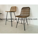 Wholesale Outdoor Furniture French Bistro Premium Metal Frame Rattan Chair