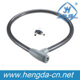 Yh1428 Direct Sale Bicycle Plastic Covered Steel Wire Bike Lock