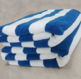 High Quality Cotton Large Terry Stripe Beach Towel