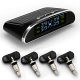Solar Power Charging TPMS Psi/Bar Show Tire Pressure Monitoring System with 4 Internal Wireless for Universal Car TPMS