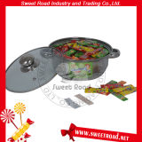 Combined Stainless Steel Pot with Various Flavoured 5 Stick Chewing Gum