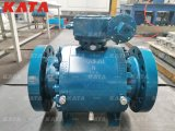 API 6D Casted Steel Metal Seated Trunnion Mounted Ball Valve