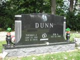 American Black Granite Cemetery Headstone Monument Tombstone with Carving