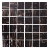 Hot Melt Square Brown Swimming Pool Mosaic Tiles Price for Bathroom Kitchen and Fountains