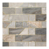 2020 Hot Art Patterns Water Jet with Gold Glass Mix Color Mosaic Decorative Kitchen for Wall and Floor Mosaic Tile