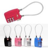 Tsa719 Steel Wire Rope Luggage Lock Tsa Customs Security Lock Zinc Alloy Password Padlock Customs Inspection Lock