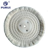 White Stitch Cotton Buffing Polishing Wheel with Plastic Washer for Metal