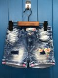 New Style Washed Hot Diamond Jeans Short Pants for Girls