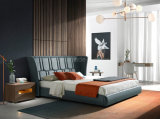 Italy Classic Modern Home Furniture Leather King Size Bed for Living Room Furniture