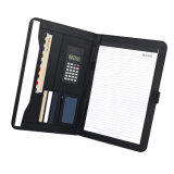 Full Grain Leather A4 Conference Folder with Calculator