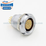ZCG.1B.307.CLN B series 1B7pins Zcg Fixed Socket with Two Nuts print type PCB connector Push-Pull Self Locking Connector