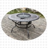 Aluminum Furniture Garden Furniture Fire Pit Table Using Charcoal (Alexander)