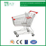 100 Liters Asian Steel Metal Supermarket Store Shop Hand Zinc Plated Shopping Cart