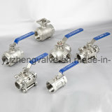 Stainless Steel 2PC Floating Ball Valve with DIN ANSI Standard