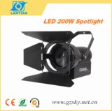 200W White LED Zoom Fresnel Theatrical Studio Video Filming Stage Light
