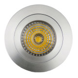 Lathe Aluminum GU10 MR16 Round Fixed Recessed LED Spotlight (LT2110A)