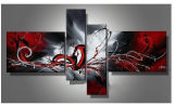 Handmade Group Modern Art Abstract Oil Painting for Wall Decoration (XD4-020)