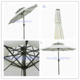 10FT Double Roof Outdoor Parasol Garden Umbrella